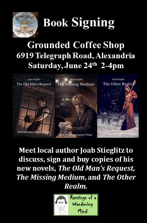 Grounded Coffee Shop Signing Flyer 20170724